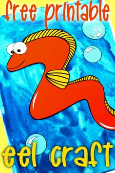 Looking for your next ocean theme project? Use our free printable eel template to make this adorable eel craft! Click and find the easy tutorial to make this fun ocean art project. Perfect for kids of all ages including preschoolers and toddlers. Sea Creatures Crafts, Sea Animal Crafts, Animal Crafts For Kids, Spring Crafts For Kids, Crafts For Kids To Make, Ocean Creatures, Octopus Crafts, Ocean Crafts, Sun Crafts