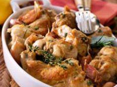 Découvrez la recette Lapin rôti à la moutarde et au romarin sur cuisineactuelle.fr.