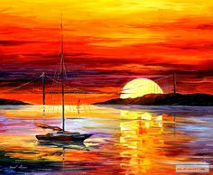 """Golden Gate Bridge by the Sunset"" by Leonid Afremov"