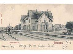 Sarpsborg jernbanestasjon - 1903. Utgiver: A. Dürendahl