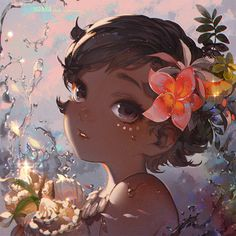 baby Moana Waialiki from upcoming 2016 Disney movie: Moana her love for the ocean is deeper than the ocean. grown-up Moana: Deeper Than the Ocean Anime Disney Princess, Moana Disney, Disney Kunst, Arte Disney, Disney Fan Art, Disney Films, Disney And Dreamworks, Disney Cartoons, Deco Disney