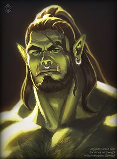 """xelgot: """" Another Orc practice. This time I wanted to try something a little more painterly. Twitter 