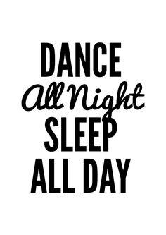 Dance Poster typography art wall decor mottos words by mottosprint