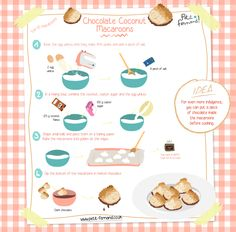 Make these delicious and gourmet coconut rocks with their little touch of chocolate to delight the whole family, from small to large! Chocolate Coconut Macaroons, Chocolate Desserts, Chocolate Rocks, Macaroon Recipes, Biscuit Cookies, Köstliche Desserts, Clean Eating Snacks, Biscotti, Kids Meals