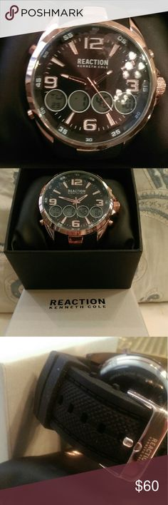 100%  AUTHENTIC Kenneth Cole Reaction Rose Gold Anadig watch Kenneth Cole Reaction Accessories Watches