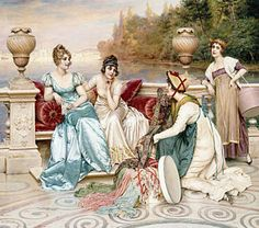 Architecture Painting - A Selection Of Silk And Satin by Joseph Frederic Charles Soulacroix