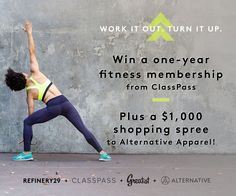 Win a 1-year membership to ClassPass