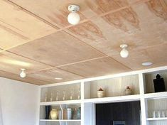 Plywood ceiling for basement