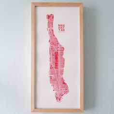 pink NYC map (just ordered)