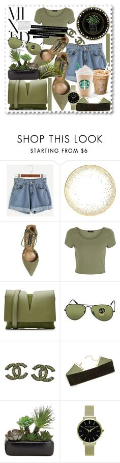 """Untitled #919"" by betty-hs ❤ liked on Polyvore featuring Kelly Wearstler, Steve Madden, New Look, Jil Sander, Ray-Ban, Chanel and Olivia Burton"