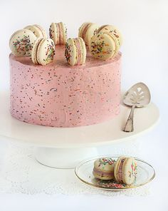 sprinkle macaron cake