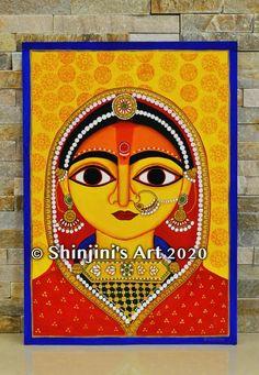 Pichwai Paintings, Indian Art Paintings, Watercolor Paintings, Indian Artwork, Madhubani Art, Madhubani Painting, Durga Painting, Silk Painting, Indian Folk Art