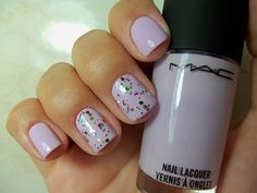 lilac nails-- love the sparkles!