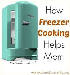 Benefits of Freezer Cooking and ideas for what to freeze for dinner, breakfast and lunches!