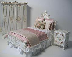 Dollhouse Miniature Bedroom Set