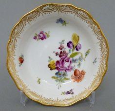 Meissen Schälchen, Blumenbukett, Gold staffiert, 19. Jahrhundert #2