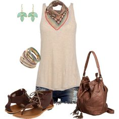cute summer outfit!!, created by johnna-cameron on Polyvore