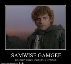 Samwise Gamgee: Being freakin' awesome since the time of Middle Earth The Hobbit Movies, O Hobbit, Jrr Tolkien, The Middle, Middle Earth, Mycroft Holmes, Frodo Baggins, Nerd Herd, Character Sketches