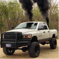 Dodge Truck with smoke stacks exhaust