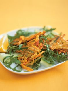 This is a twist on the onion bhaji you get at your local curry house – great with the yoghurt dressing!