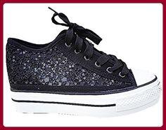 Basket aufstrebende ausgeglichen Spitze Damen Schuh Mädchen gieren Modus q631schwarz, Schwarz - Schwarz - schwarz - Größe: 41 - Sneakers für frauen (*Partner-Link)