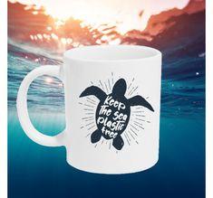 Keep the sea plastic free - Kopp Plastic, Sea, Mugs, Tableware, Design, Dinnerware, Tumbler, Dishes, Mug