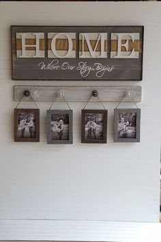 Rustic HOME sign, Home, Where our story starts, Country decor, Wedding shower gift, Housewarming gift, #affiliate