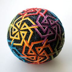 temari balls | Star Rainbow temari ball by mfrid on Etsy