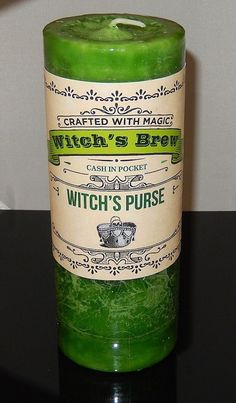 MONEY candle WITCHES Purse RICHES Coventry Creations SPELL CANDLE Wicca Pagan