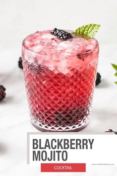 Refreshing mojito recipe with a berry spin! This Blackberry Mojito is delicious and a perfect summer cocktail! #mojitorecipe #rumcocktail #summercocktail