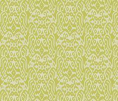 Avacado Ikat fabric by ragan on Spoonflower - custom fabric