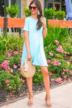 Shop Jess Lea Boutique Maddy T-Shirt Dress  #jesslea #jessleaboutique #jessleastyle #casualstyle #momstyle #casualoutfit #easyoutfit #ootd #boutique #boutiquestyle #comfystyle #falloutfits #comfydress #comfyoption #fallinspo Navy Floral Maxi Dress, Ruffle Dress, Strapless Dress, Casual Outfits, Summer Outfits, Summer Dresses, Lace Trim Shorts, T Shirt, Shirt Dress