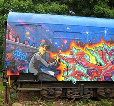 Graffiti Murals : Graffiti On Train >> Graffiti Alphabet Graffiti Wall Art, Best Graffiti, Mural Art, Graffiti Drawing, Patrick Nagel, Urban Street Art, 3d Street Art, Murals Street Art, Street Art Graffiti