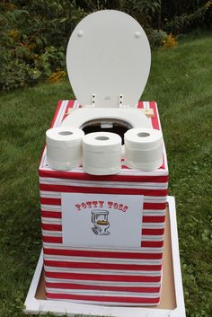 Potty toss game This would be a good idea for the Fall Festival at church