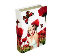 Storage Book - Marilyn Monroe   Marilyn Monroe Storage Book is an attractive storage alternative. A magnetic storage container designed to look like an fashionable book with a variety of stylish covers, perfect for displaying on coffee tables, shelves or sideboards.   Height : 30cm Width : 21.5cm Depth : 7cm