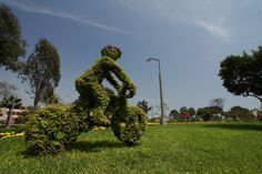 escultura verde