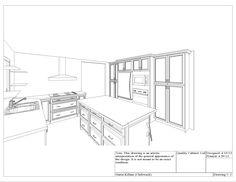 Kitchen Cabinet Design Drawing Kitchen Elevation Line Drawing
