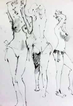 Beau Rocks 10 Pencil burlesque life drawing by Bridget Davies