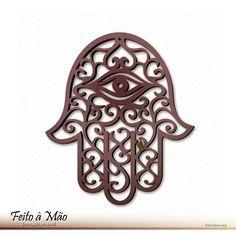 Escultura Amuleto Hamsá Mão de Fátima Mão de Deus