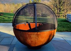 Gary in Manchester Center, VT, sent this great picture of his Big Bowl O' Zen Sculptural Firebowl™ and screen on a gorgeous bluestone patio. His email included the note:      The backyard Deathstar is almost complete…  I'd love to see another photo from further back, showing more of the patio and surroundings, but the firebowl looks very handsome on the stonework.