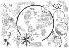 Ilustración de María García sobre el texto de F. Bacon, Novum Organum CXXIX. ©