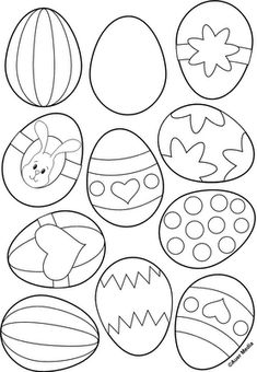"""Printables"" - Easter Egg Colouring Sheet."