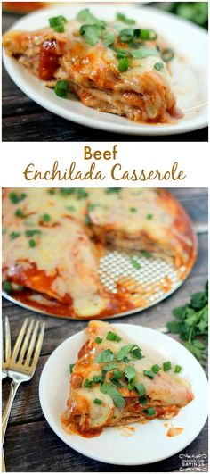 Beef enchilada casserole recipe easy dinner recipe for family dinner night when you are wanting something different! Easy Casserole Recipes, Healthy Dinner Recipes, Mexican Food Recipes, Beef Recipes, Cooking Recipes, Yummy Recipes, Casserole Dishes, Mexican Dinners, Kid Cooking