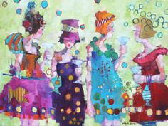 """Angela Morgan, """"betwixt, prattle and punch"""" , Oil on Canvas  36 X 48 in. #Canadian #Art www.woodlandsgallery.com"""