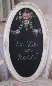 50 DIY Oval Rose Chalkboard