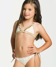 SHELL BEACH GIRLS TRIANGLE BIKINI - ONDADEMAR KIDS SWIMWEAR   #mindsshots #mindspics