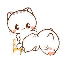 LINE Creators' Stickers - Wen small meow 3 Example with GIF Animation Foto Cartoon, Cartoon Gifs, Cute Cartoon Wallpapers, Cute Love Memes, Cute Love Gif, Cute Cat Gif, Cute Cartoon Pictures, Cute Love Pictures, Gif Mignon
