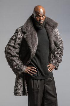 Mens Fur, Fur Coats, Furs, Fur Trim, Dark Skin, Mink, Superhero, Jackets, Blue