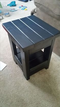 2x4 Pine Wood End Table Rustic Farmhouse Style Free Plans