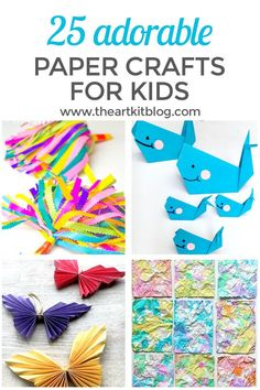 25 Adorable Paper Crafts for Kids #papercrafts #papercraftsforkids #crafts #craftsforkids